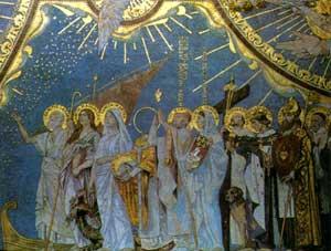 Débarquement de saints Lazare, Marie-Madeleine, Marthe ._.mosaïque de la basilique de Montmartre